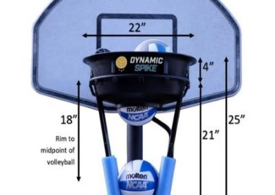 DynamicSpike Volleyball hitting trainer with measurements