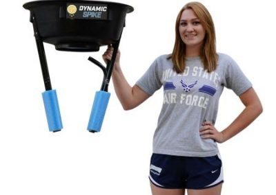 The DynamicSpike Volleyball hitting trainer is lightweight