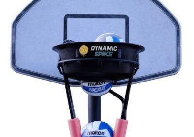 The DynamicSpike Volleyball hitting trainer with pink foam arms