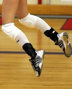 volleyball player jumping