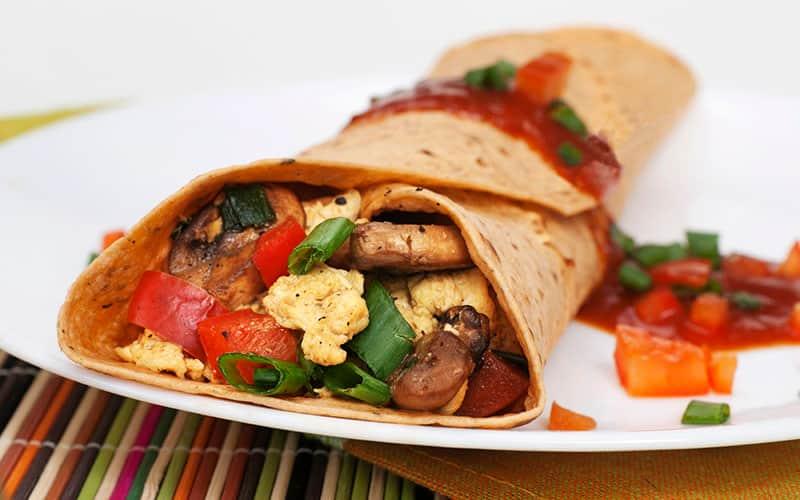 Photo of a breakfast burrito
